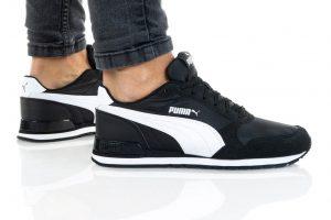 נעלי סניקרס פומה לנשים PUMA ST RUNNER V2 MESH - שחור/לבן