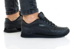 נעלי סניקרס פומה לנשים PUMA ST RUNNER V2 MESH - שחור מלא