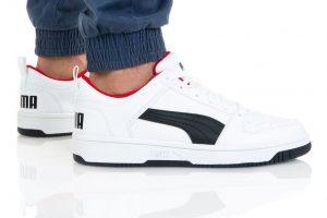 נעלי סניקרס פומה לגברים PUMA REBOUND LAYUP - לבן/שחור