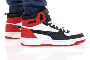 נעלי סניקרס פומה לגברים PUMA REBOUND LAYUP - לבן/אדום