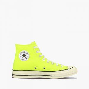 נעלי סניקרס קונברס לגברים Converse CHUCK 70 HI - צהוב בהיר