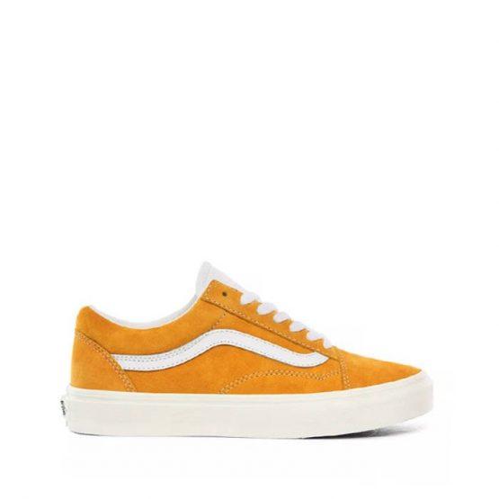 נעלי סניקרס ואנס לנשים Vans Old Skool - לבן/צהוב