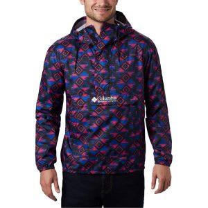 ג'קט ומעיל קולומביה לגברים Columbia Challenger Windbreaker - צבעוני כהה