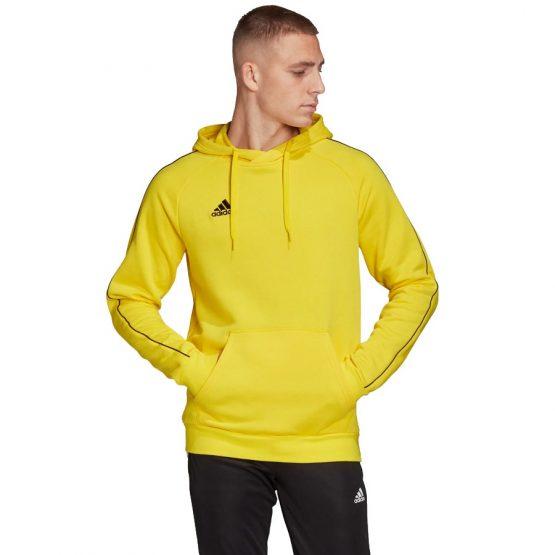 סווטשירט אדידס לגברים Adidas Core 18 - צהוב