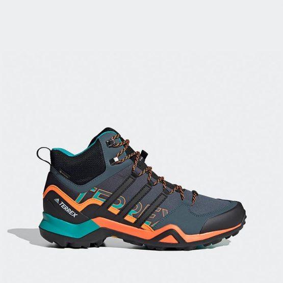 נעלי טיולים אדידס לגברים Adidas Terrex Swift R2 Mid Gore-Tex Gtx - שחור