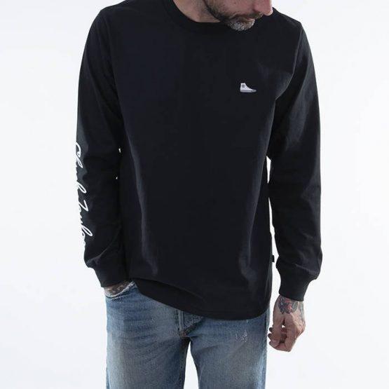 סווטשירט קונברס לגברים Converse CT Sneaker Patch - שחור