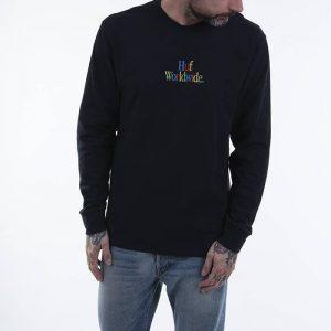 סווטשירט HUF לגברים HUF Woz Embroidery - שחור