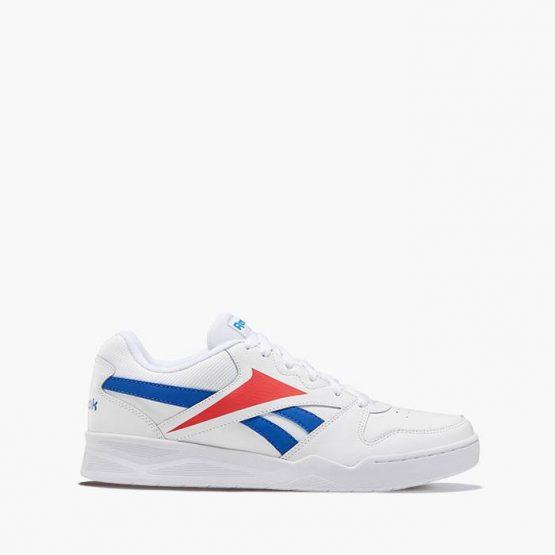 נעלי סניקרס ריבוק לגברים Reebok Royal Low2 - לבן  כחול  אדום