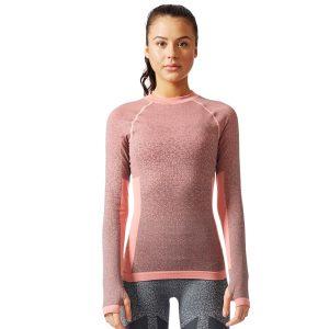 חולצת אימון אדידס לנשים Adidas Seamless LS - ורוד