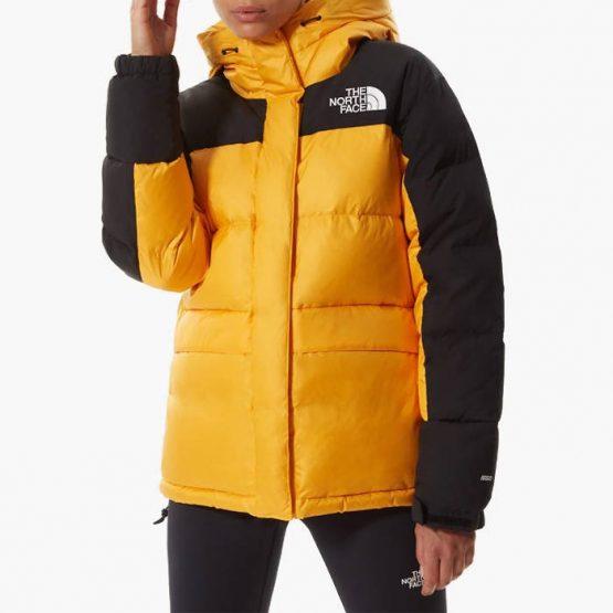 ג'קט ומעיל דה נורת פיס לנשים The North Face Himalayan Down Parka - שחור/צהוב