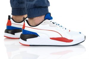 נעלי סניקרס פומה לגברים PUMA X-Ray Game - לבן  כחול  אדום