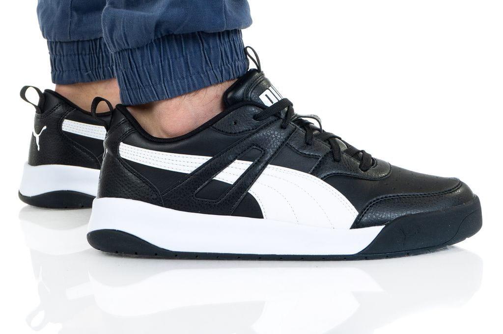 נעלי סניקרס פומה לגברים PUMA BACKCOURT SL - שחור/לבן