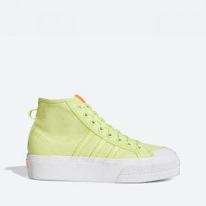 נעלי סניקרס אדידס לנשים Adidas Originals Nizza Platform Mid - ירוק