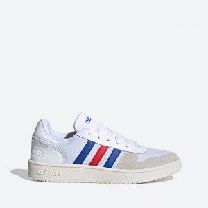 נעלי סניקרס אדידס לגברים Adidas Hoops 2.0 - לבן  כחול  אדום