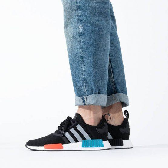 נעלי סניקרס אדידס לגברים Adidas Originals Nmd R1 - שחור