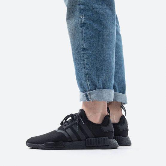 נעלי סניקרס אדידס לגברים Adidas Originals x Pharrell Williams NMD_R1 - שחור