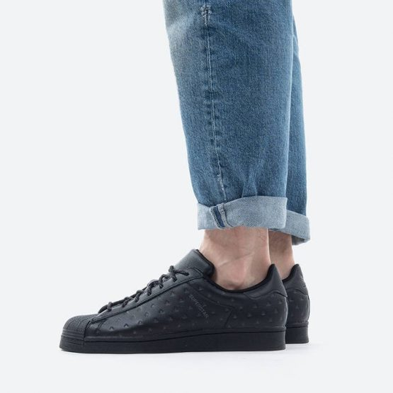 נעלי סניקרס אדידס לגברים Adidas Originals x Pharrell Williams Superstar Black Ambirion - שחור