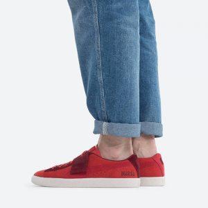 נעלי סניקרס פומה לגברים PUMA x Michael Lau Suede VTG Sample - אדום