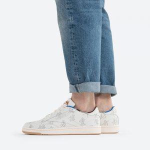 נעלי סניקרס ריבוק לגברים Reebok x Kung Fu Panda Club C 85 - לבן