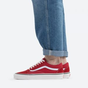 נעלי סניקרס ואנס לגברים Vans UA Anaheim Old Skool 36 DX - אדום