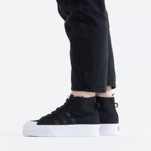 נעלי סניקרס אדידס לנשים Adidas Originals Nizza Platform Mid - שחור