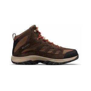 נעלי טיולים קולומביה לגברים Columbia CRESTWOOD MID WATERPROOF - חום