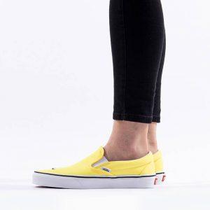 נעלי סניקרס ואנס לגברים Vans Classic Slip-On - לבן/צהוב