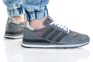 נעלי סניקרס אדידס לגברים Adidas Originals Zx 500 - אפור כהה