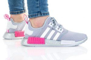נעלי סניקרס אדידס לנשים Adidas Originals NMD_R1 - אפור/ורוד