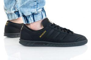 נעלי סניקרס אדידס לגברים Adidas Originals HAMBURG - שחור