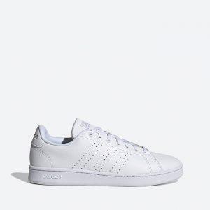 נעלי סניקרס אדידס לגברים Adidas Advantage - לבן מלא