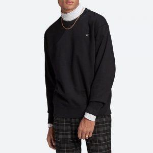 סווטשירט אדידס לגברים Adidas Originals Adicolor Premium Crew - שחור