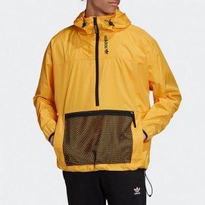 ג'קט ומעיל אדידס לגברים Adidas Originals Adventure Anorak - צהוב