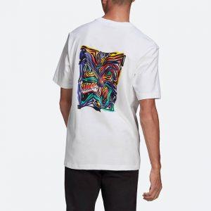 חולצת T אדידס לגברים Adidas Originals Adventure Munching Archive Graphic - לבן