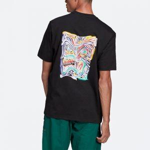 חולצת T אדידס לגברים Adidas Originals Adventure Munchman Tee - שחור