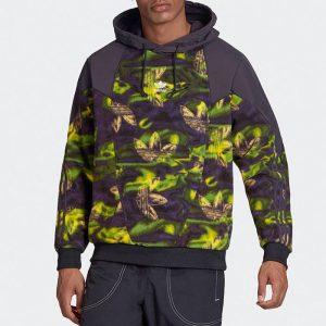 סווטשירט אדידס לגברים Adidas Originals Big Trefoil Printed Polar Fleece - צבעוני