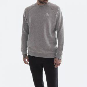סווטשירט אדידס לגברים Adidas Originals Trefoil Essential Crewneck - אפור