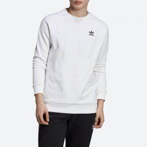 סווטשירט אדידס לגברים Adidas Originals Trefoil Essential Crewneck - לבן