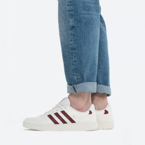 נעלי סניקרס אדידס לגברים Adidas Originals NY 90 Stripes - לבן/אדום