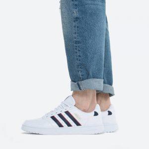 נעלי סניקרס אדידס לגברים Adidas Originals NY 90 Stripes - לבן/כחול