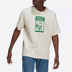 חולצת T אדידס לגברים Adidas Originals Stan Smith Tee - לבן