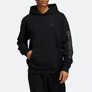 סווטשירט אדידס לגברים Adidas Originals x Pharrell Williams Basics Hoodie Black Ambition - שחור