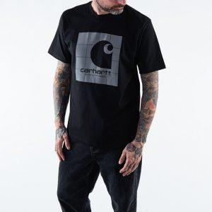 חולצת T קארהארט לגברים Carhartt WIP Reflective Square - שחור