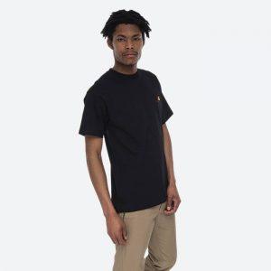 חולצת T קארהארט לגברים Carhartt WIP S/S American Script - שחור