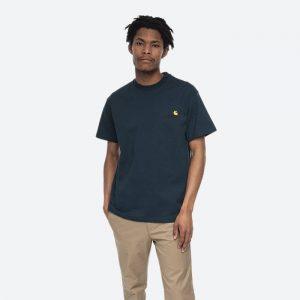 חולצת T קארהארט לגברים Carhartt WIP S/S American Script - ירוק