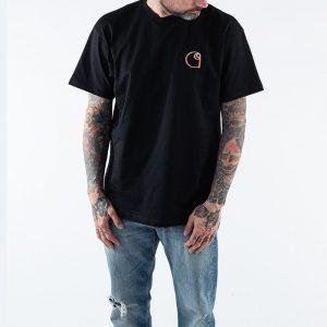 חולצת T קארהארט לגברים Carhartt WIP S/S Commission - שחור
