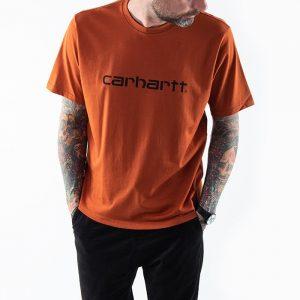 חולצת T קארהארט לגברים Carhartt WIP S/S Script - כתום