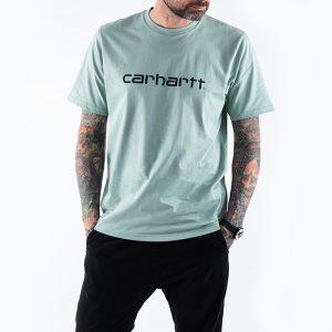 חולצת T קארהארט לגברים Carhartt WIP S/S Script - ירוק