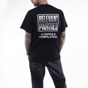 חולצת T קארהארט לגברים Carhartt WIP X Relevant Parties Vol 1 - שחור