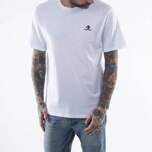חולצת T קונברס לגברים Converse Embroidered Star Chevron Tee - לבן